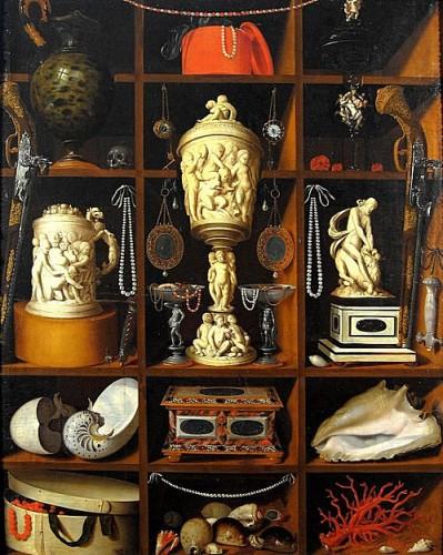 Johann George Hinz, le cabinet de curiosités, vers 1666.