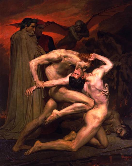 William Bouguereau, Dante et Virgile, 1850, huile sur toile, 281 x 225 cm, c Musée d'Orsay, dist. RMN-Grand Palais.