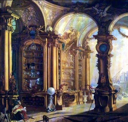 Cabinet de Bonnier Mosson, peinture de Jacques de la tour.