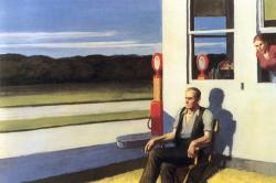 Edward Hopper, Four lane road, 1956, 69,8 x 105, 4 cm, collection privée.