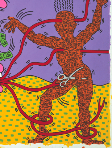 detail corps keith haring mam
